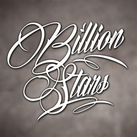 tattoo fonts billion stars billion font 1001 free fonts