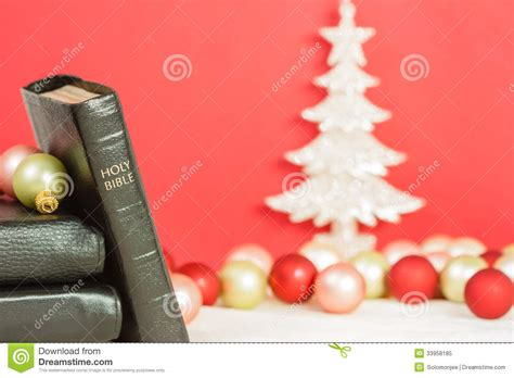 bible verses against traditional vhristmas and the holy bible stock image image of festive 33958185