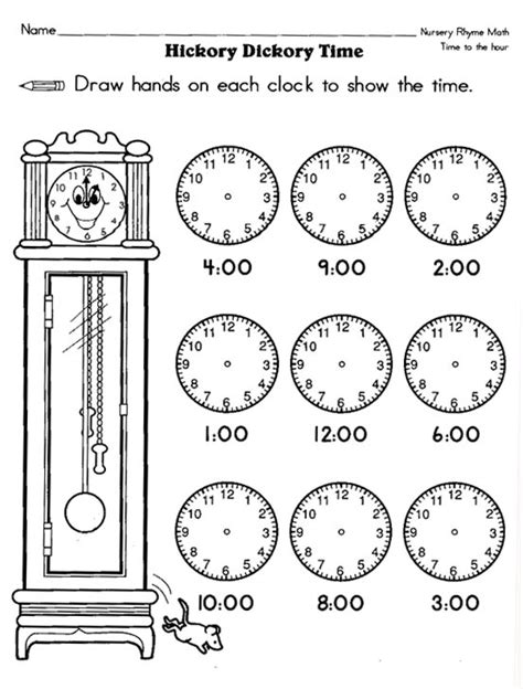 free printable time math sheets time math worksheets kindergarten time worksheets