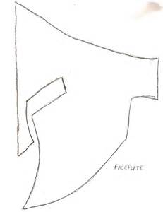 Spartan Mask Template by How To Make A Spartan Helmet