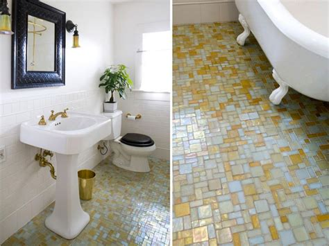 photos hgtv blue bathroom with mosaic glass tile 15 simply chic bathroom tile design ideas hgtv