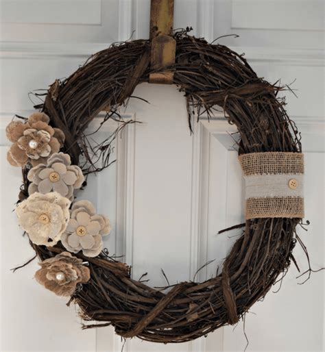 12 diy projects for fall themed wreaths 8 rustic floral wreath diy amp crafts ideas magazine