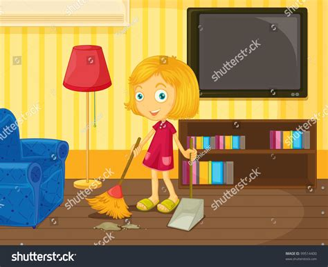 cleaning the house music cleaning house stock vector 99514400 shutterstock