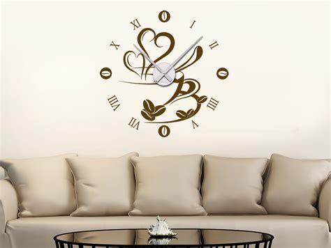 Wandtattoo Wohnzimmer by Wandtattoo Uhr Mit Kaffetasse Bei Homesticker De