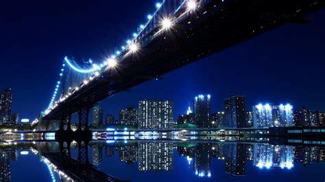 Late Night City Bridge View HD Wallpaper » FullHDWpp   Full HD Wallpapers 1920x1080