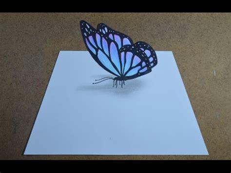 borboletas em 3d youtube como desenhar uma borboleta com efeito 3d simples youtube