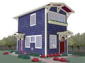 Small Backyard House Plans by 440 Sq Ft Tiny Backyard Cottage Plans