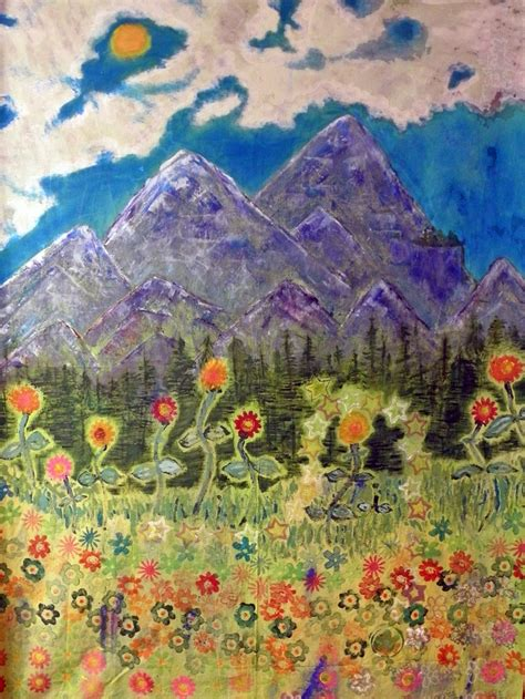 Mountain Landscape Quilt Fabric 123 Best Images About Seascapes Mountainscapes On