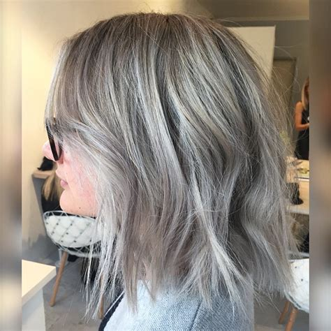 how to care for thick gray hair on over sixty woman 22 layered bob hairstyle ideas you will love bobs dark