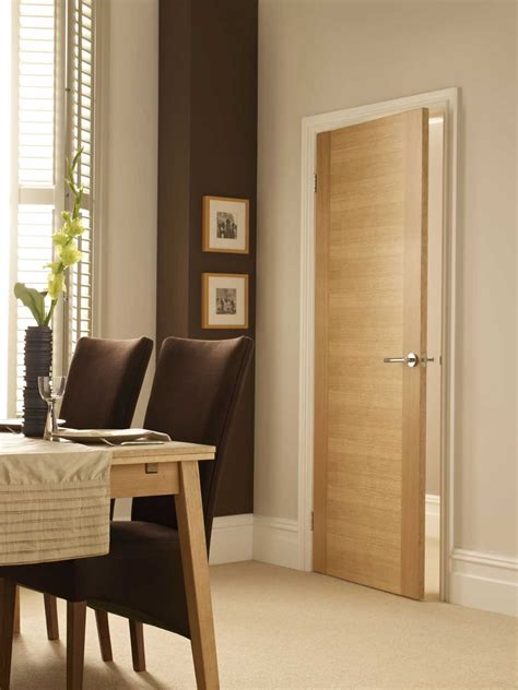 2 Sileed Oak Veneer Match Flush Doors Oak Interior Doors Uk
