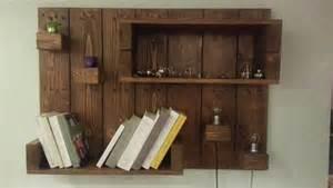 Free Bookshelf Wood Plans by Diy Pallet Hanging Shelf Pallet Furniture Diy