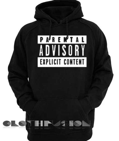 Kaos Advisory parental advisory hoodie logo unisex premium clothing design