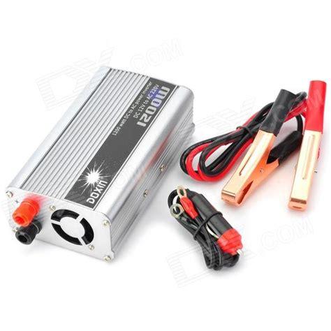 Diskon Power Inverter Tbe Dc To Ac 1200w Watt 1200w car dc 12v to ac 220v power inverter silver black free shipping dealextreme