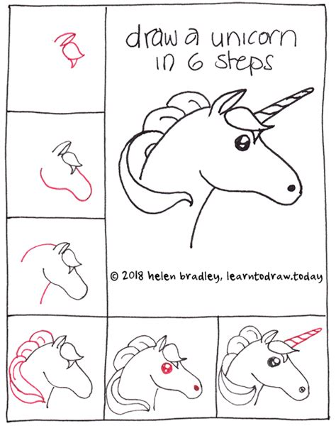 unicorn step by step how to draw a unicorn in 6 steps learn to draw