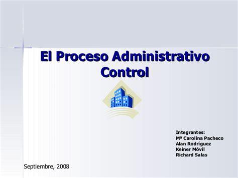 control administrativo fases control en el proceso administrativo