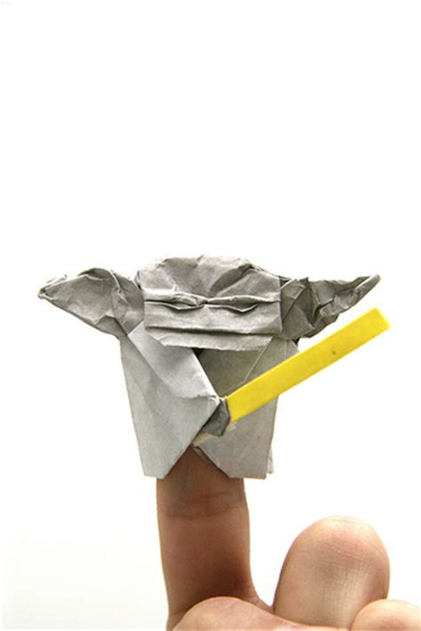 Origami Yoda Finger Puppet - origami yoda flickr photo