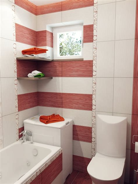 bathroom red and white small bathroom design