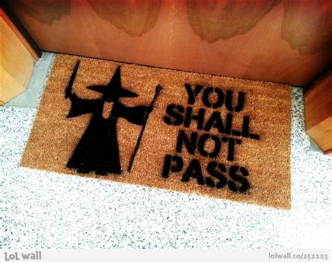 You Shall Not Pass Doormat door mat you shall not pass dump a day