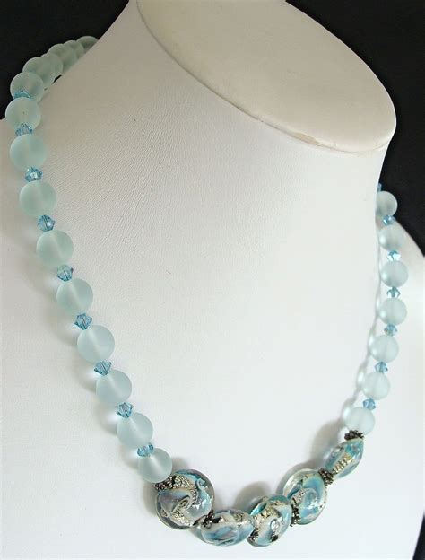 Edgewater 17 Quot Handcrafted Sea Glass Bead Necklace