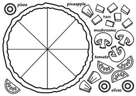 pizza template use it in the esl classroom for a