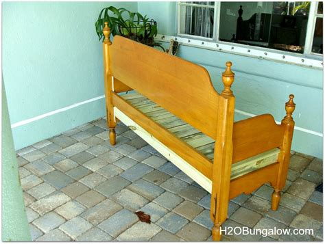 diy bench from headboard how to make an easy headboard bench