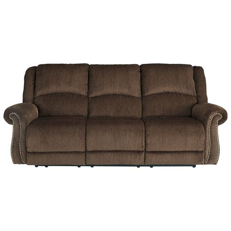 power reclining sofa with usb signature design by goodlow 7900315 transitional