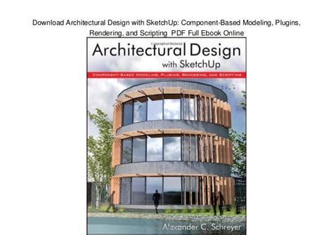 sketchup layout ebook download architectural design with sketchup component