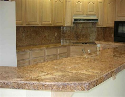 Have The Ceramic Tile Kitchen Countertops For Your Home Tiled Kitchen Countertops