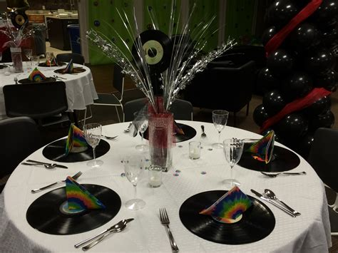 rock and roll theme decorations rock n roll prom table decorations prom ideas