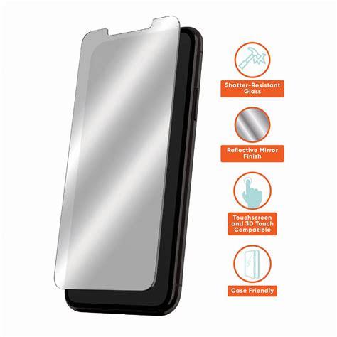 onn mirror glass screen protector  iphone xr iphone