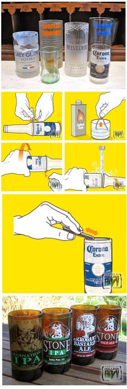 como cortar y decorar botellas de vidrio c 243 mo cortar botellas de vidrio para hacer vasos