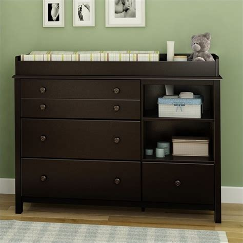 South Shore Little Smiley Espresso Baby Changing Table Ebay Change Table Dresser