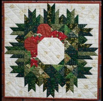 quilted coverlet christmas wreath quilt