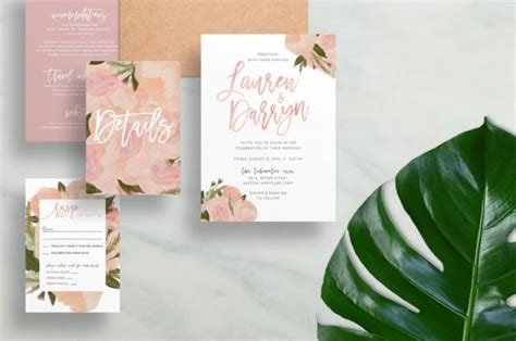painted watercolor wedding invitations floral wedding invitations watercolor wedding invites