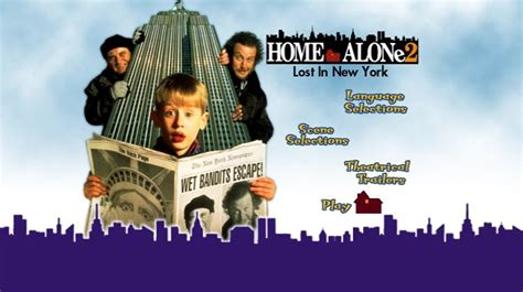 home alone 2 lost in new york 1992 dvd menus