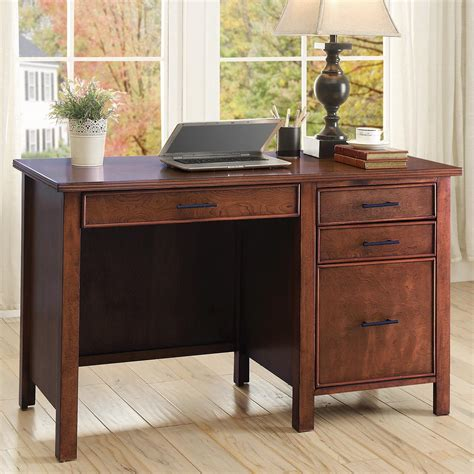coaster writing desk with file drawer and outlet value