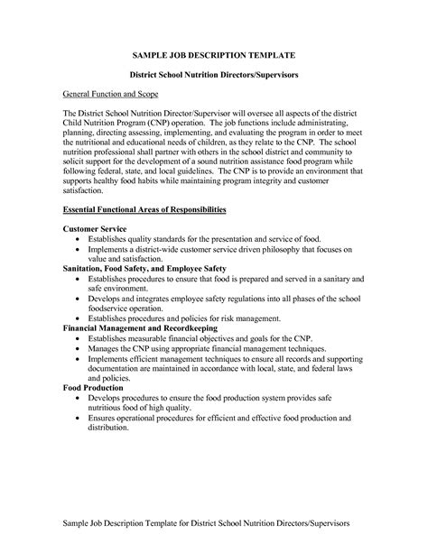 job description layout exles best photos of job description layout sles free job