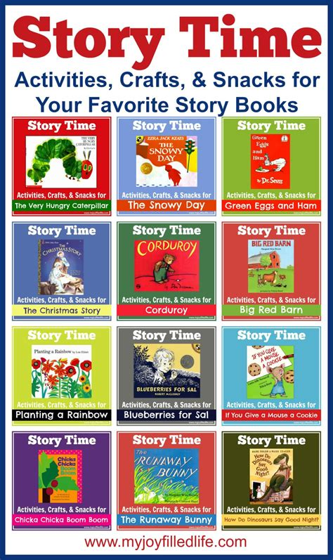 story book themes for preschool story time activities crafts snacks for your