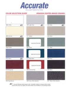 Bathroom Color Combos - accurate powder coated metal colorchart manning materials inc