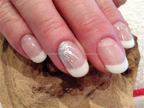 Gel Nails With Tips by Eye Nails White Gel Tips With Freehand