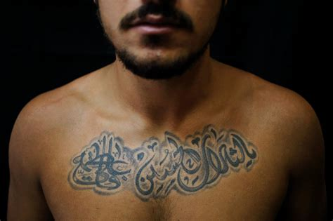 muslim face tattoo pictured shiite tattoos a show of pride amid tensions