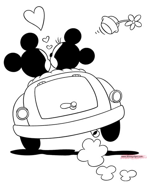 mickey mouse car coloring page minnie mouse coloring pages mickey mouse car coloring page