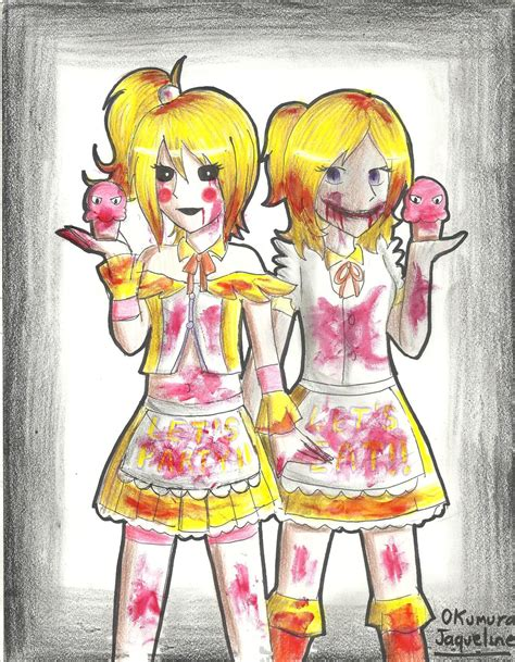 deviantart anime chica toy chica and toy chica fnaf by okumurajaqueline on deviantart