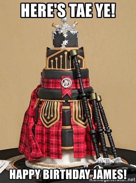 heres tae ye happy birthday james scottish birthday