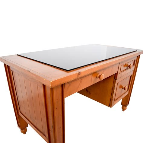 pottery barn desk l 67 off pottery barn pottery barn solid wood desk
