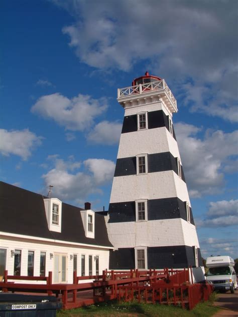 West Point Light by West Point Lighthouse Prince Edward Island Canada