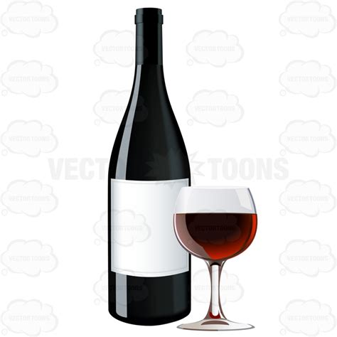 cartoon wine glass cartoon clipart red wine bottle next to a glass of red wine