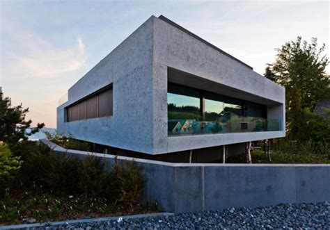 concrete block house modern architecture the concrete block house by simmengroup