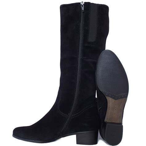 suede high boots gabor toye knee high black suede boots low heel mozimo