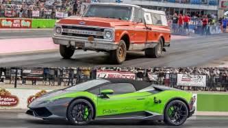 Outlaws Farm Truck Wheels Farm Truck Outlaws Racing A Lamborghini On The Drag